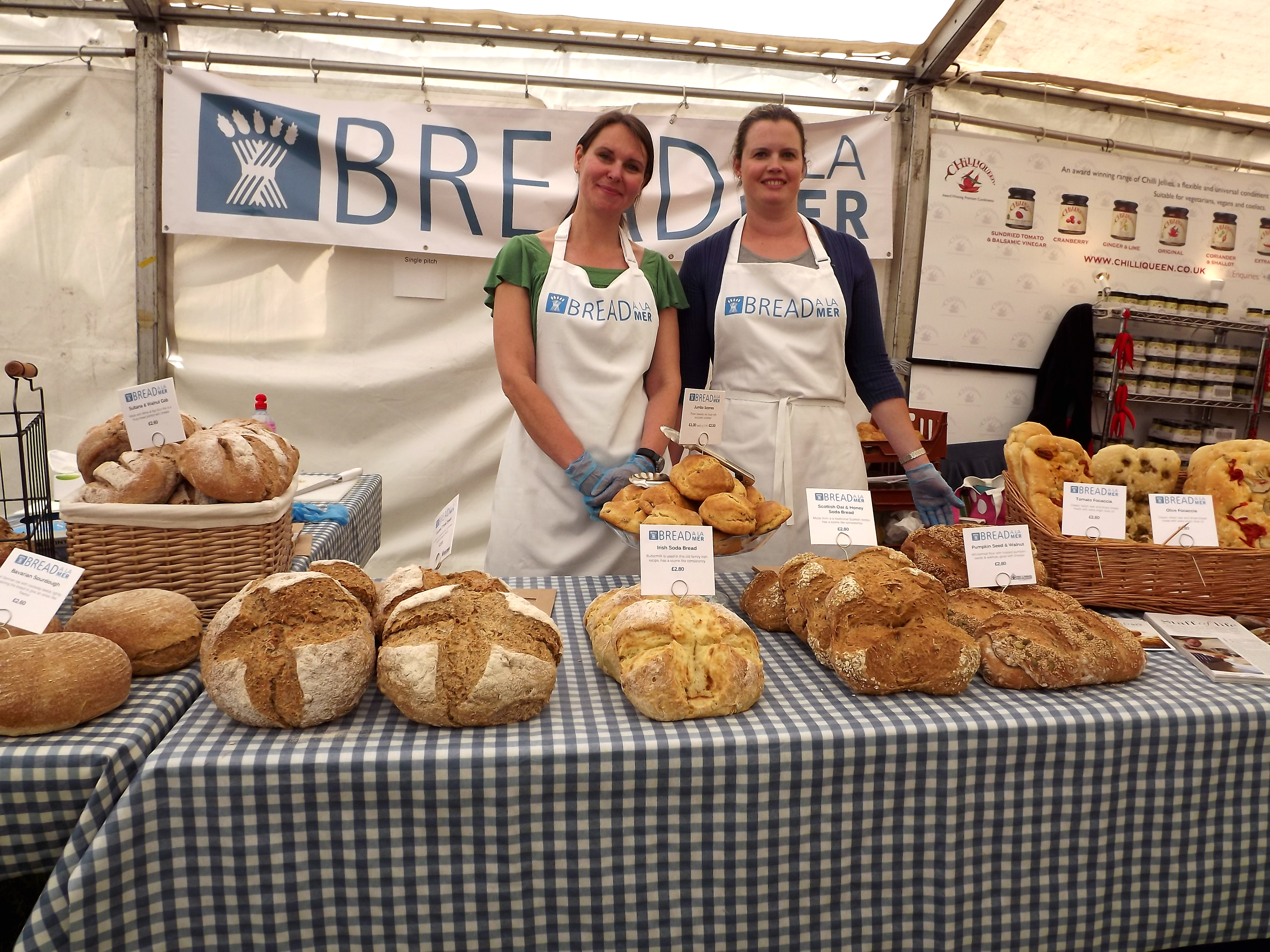 glynde food festival bread a la mer lovely ladies