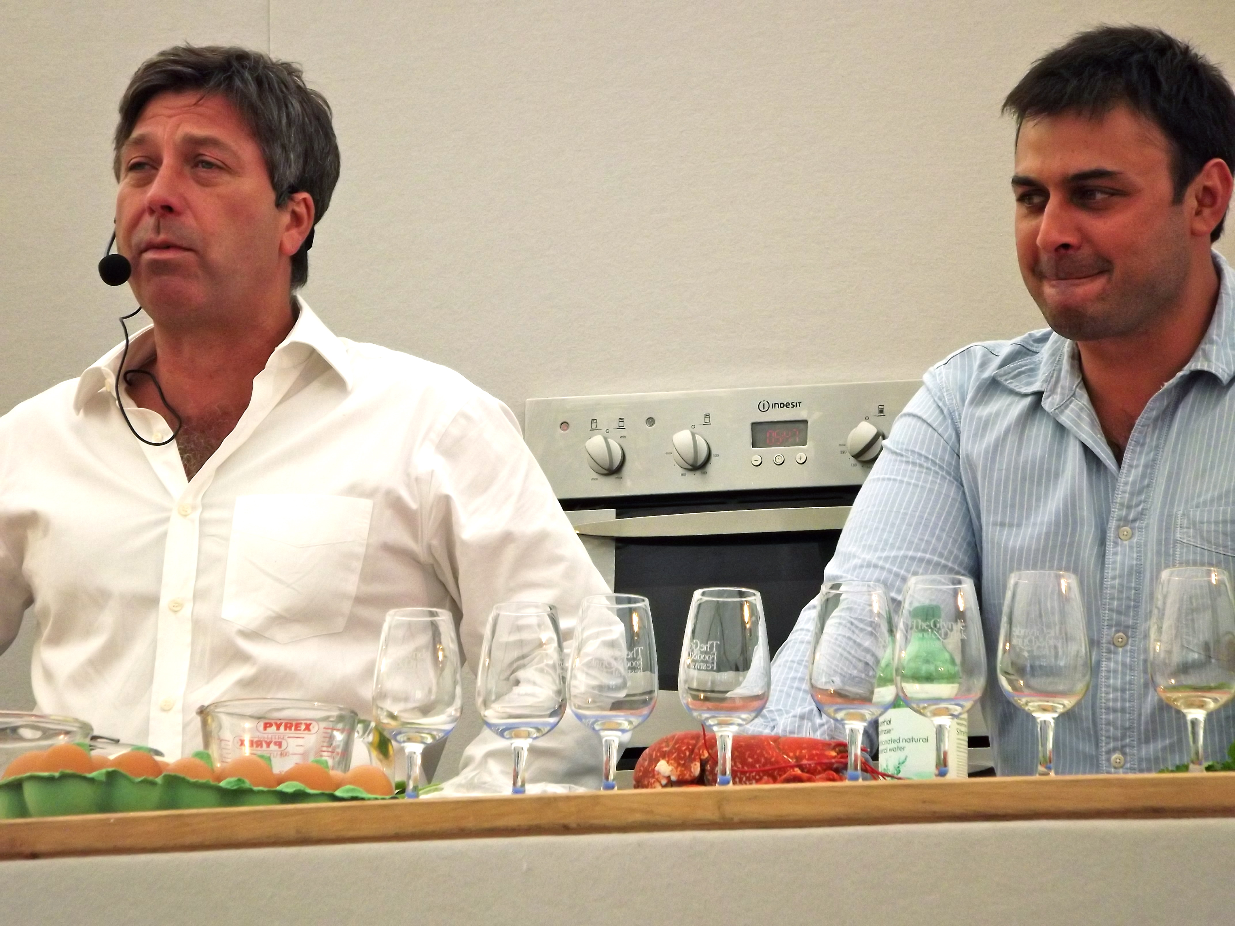 john torode dhruv baker glynde food festival